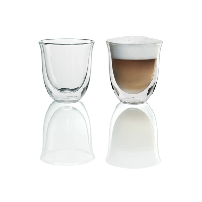 Delonghi Espresso Machine Cappucino Glasses 2pk