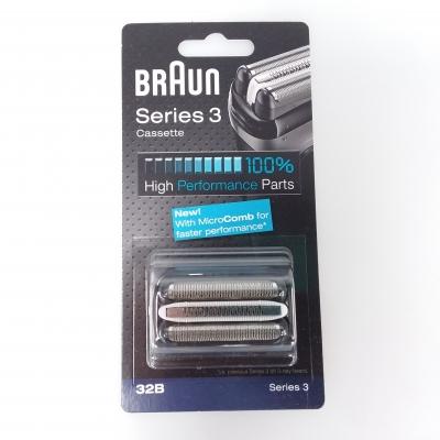 Braun Shaver Foil & Cutter Cassette (Black) - 32BCAS