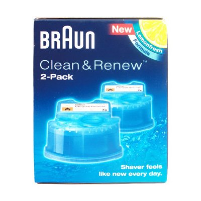 braun shaver clean and renew 2pk buy online need a part. Black Bedroom Furniture Sets. Home Design Ideas