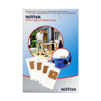 nilfisk vacuum bags 4pk multi buy online need a part. Black Bedroom Furniture Sets. Home Design Ideas