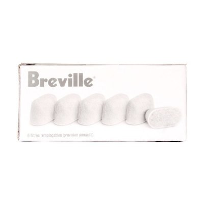 Breville Espresso Machine Charcoal Water Filter 6pk Bwf100
